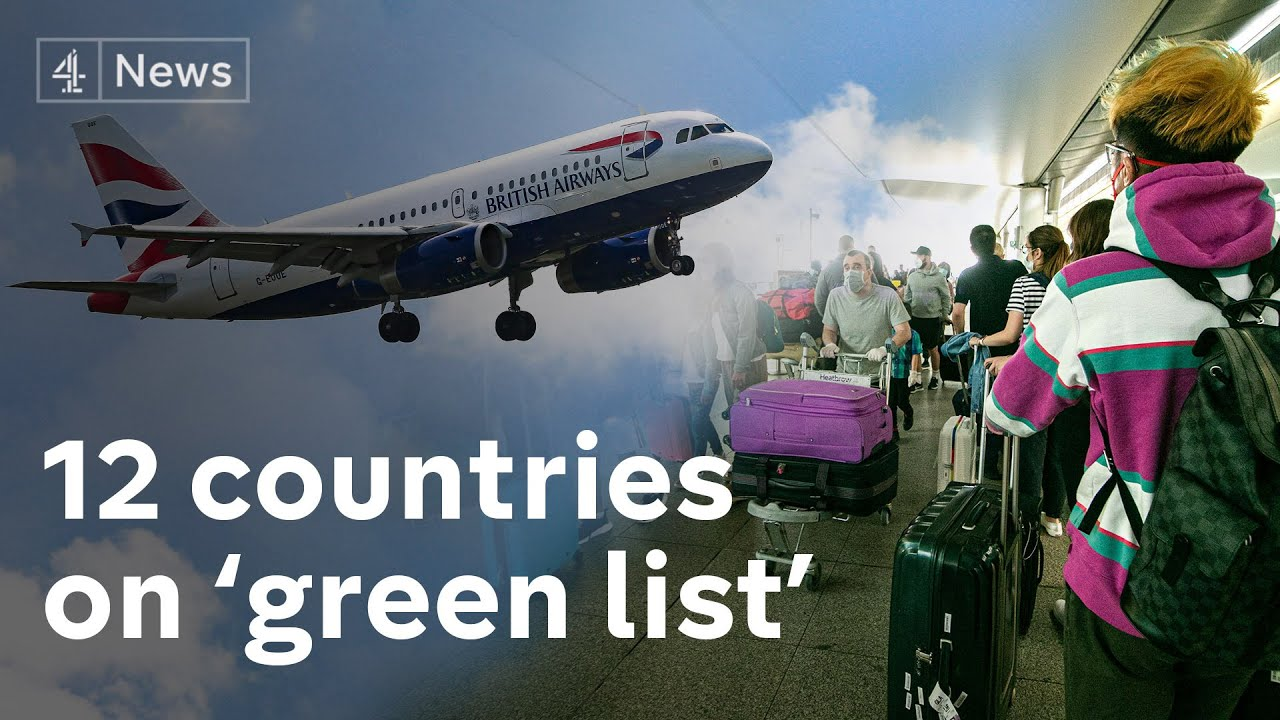 England travel 'green list' to include 12 countries