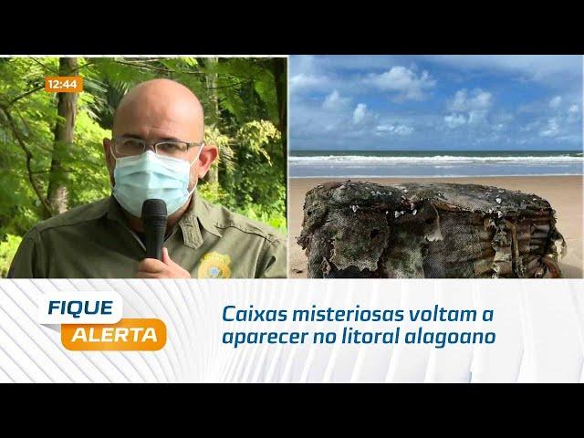 Fardos de borracha: Caixas misteriosas voltam a aparecer no litoral alagoano