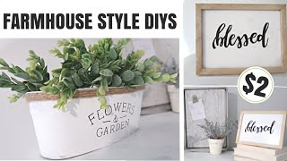 DIY DOLLAR TREE FARMHOUSE DIYS | FARMHOUSE STYLE KITCHEN DECOR | DIY SIGN, MAGNETIC BOARD, PLANTER