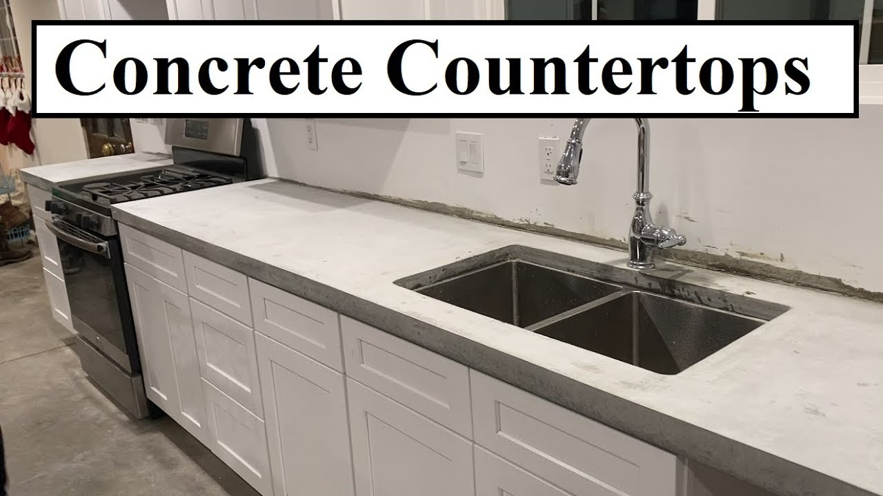 #386 - DIY Concrete Countertops For The Kitchen - Pour In Place