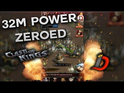 32M POWER PRESTIGE 5 GETS ZEROED!!! (CLASH OF KINGS BETA)