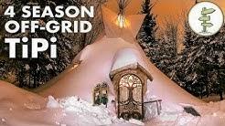 Ultimate 4 Season Off-Grid Tipi - A Tiny House Alternative (Teepee, tent)