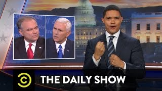 the daily show vice presidential debate wrap up