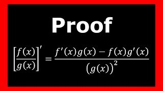 Quotient Rule for Derivatives - Proof (Using the Product and Reciprocal Rule)
