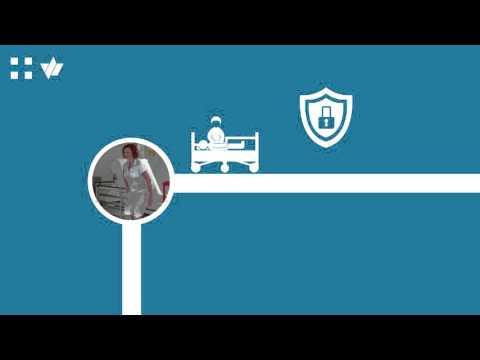 image 3-w - Het wasbare universele en laag ziekenhuisbed met 5de wiel