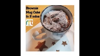 Brownie Mug Cake in 2 minutes - Microwave Eggless Brownie Mug Cake Recipe