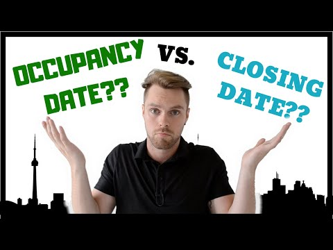 Occupancy Vs. Closing Date, What's the Difference? | Pre-Con