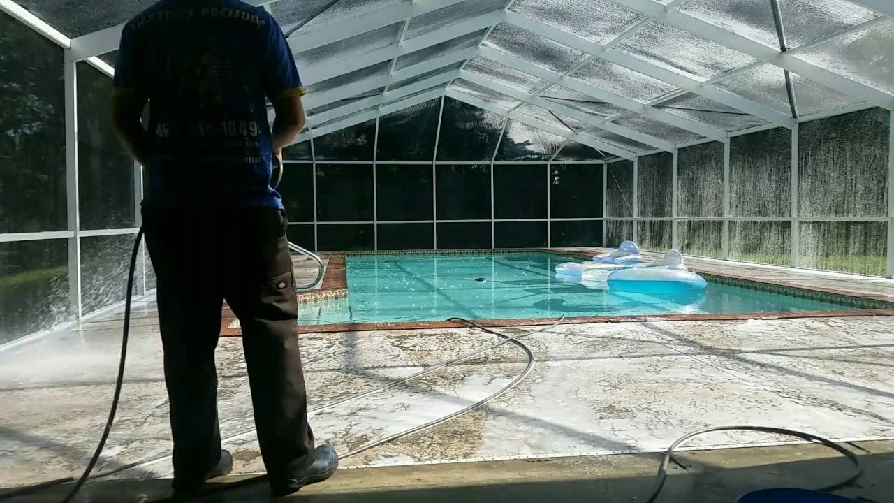 Pool Cage Cleaning Lakeland Fl Lightning Pressure