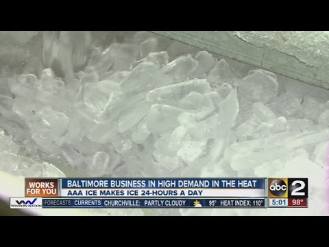 Hot weather brings high demand for Baltimore ice company