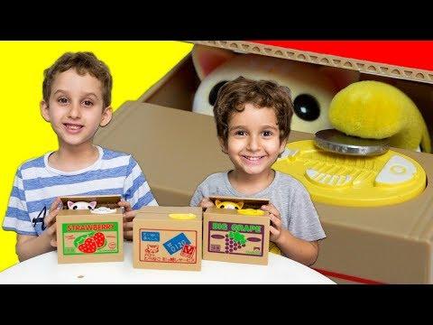 PAULINHO e TOQUINHO & Gatos que Saem da Caixa de Brinquedos p/ Crianças - Funny Kids & Box of Cats