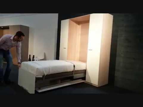 de beddenwinkel demonstreert 1 persoons bedkast base van boone