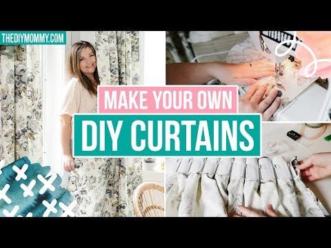 How to MAKE CURTAINS at HOME that look INCREDIBLE! *perfect pleat hack* | The DIY Mommy