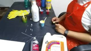 Intro3 Acrylic Pouring 101, How to Mix the Paint / Make fluid Acrylic Paint