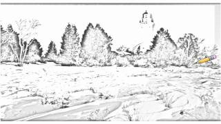 Auto Draw 2: Cana Island Lighthouse On Lake Michigan, Door County, Wisconsin