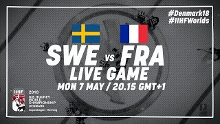 Sweden - France   Full Game   2018 IIHF Ice Hockey World Championship
