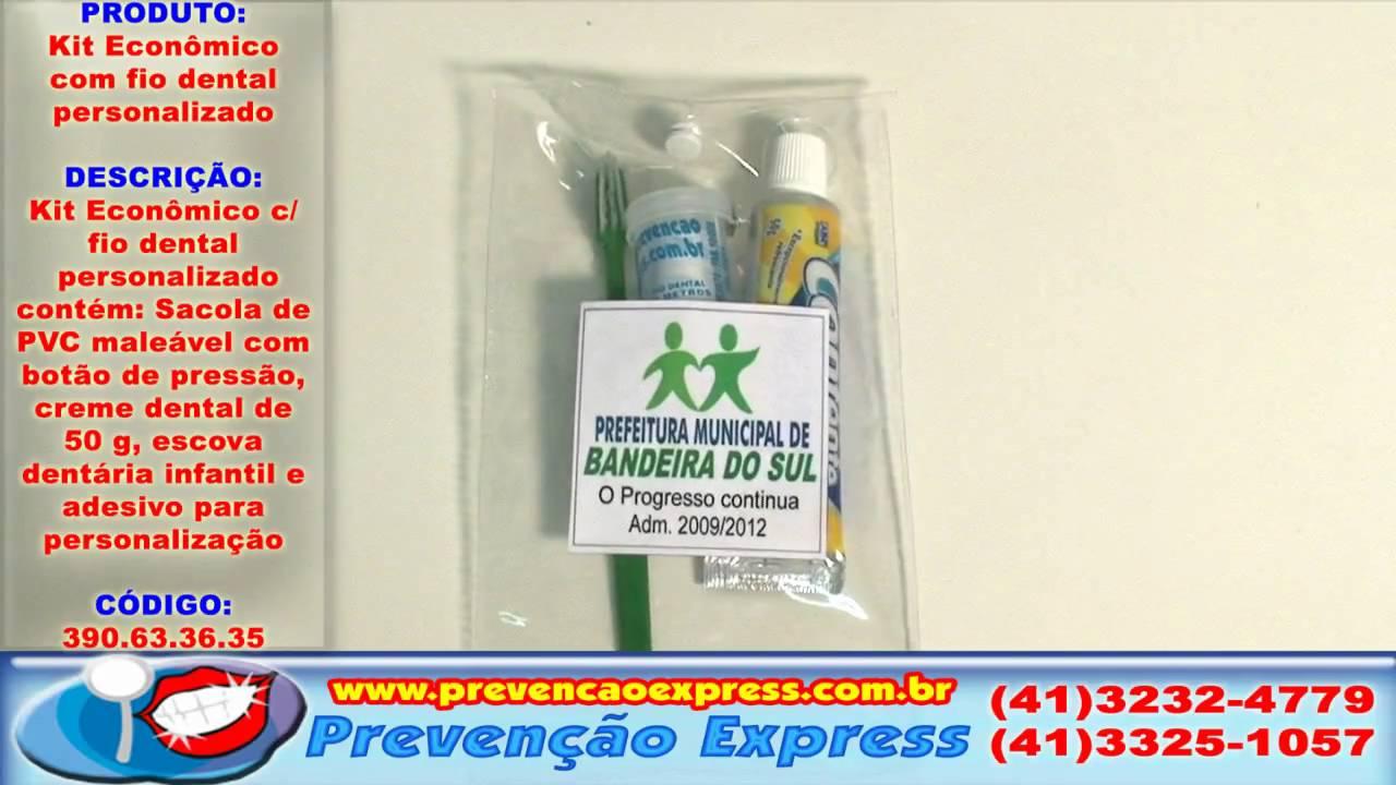 16ecda0b3 Kit Econômico com Fio Dental Personalizado - YouTube
