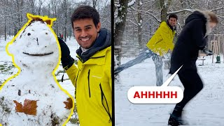 She got hit by Snowballs! | Dhruv Rathee Vlogs