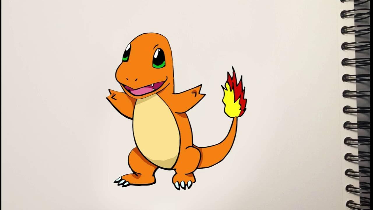 Como dibujar a Charmander Trucos Pokemon How to draw Charmander