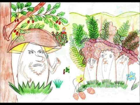 война грибов с ягодами