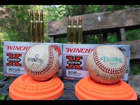 308 Vs 30-06 - Shooting Baseballs!!!