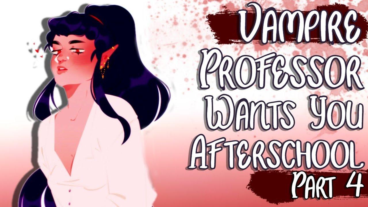 ♡Vampire Professor Wants You Afterschool (ASMR/Roleplay)(Part 4)(Soft Dom)(Kisses)(Gender Neutral)♡