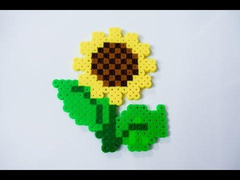 Perler Beads Designs Sunflower YouTube Delectable Perler Bead Flower Patterns