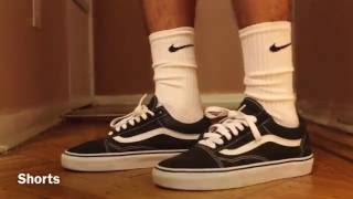 On Feet Look Of The Black Old Skool Vans