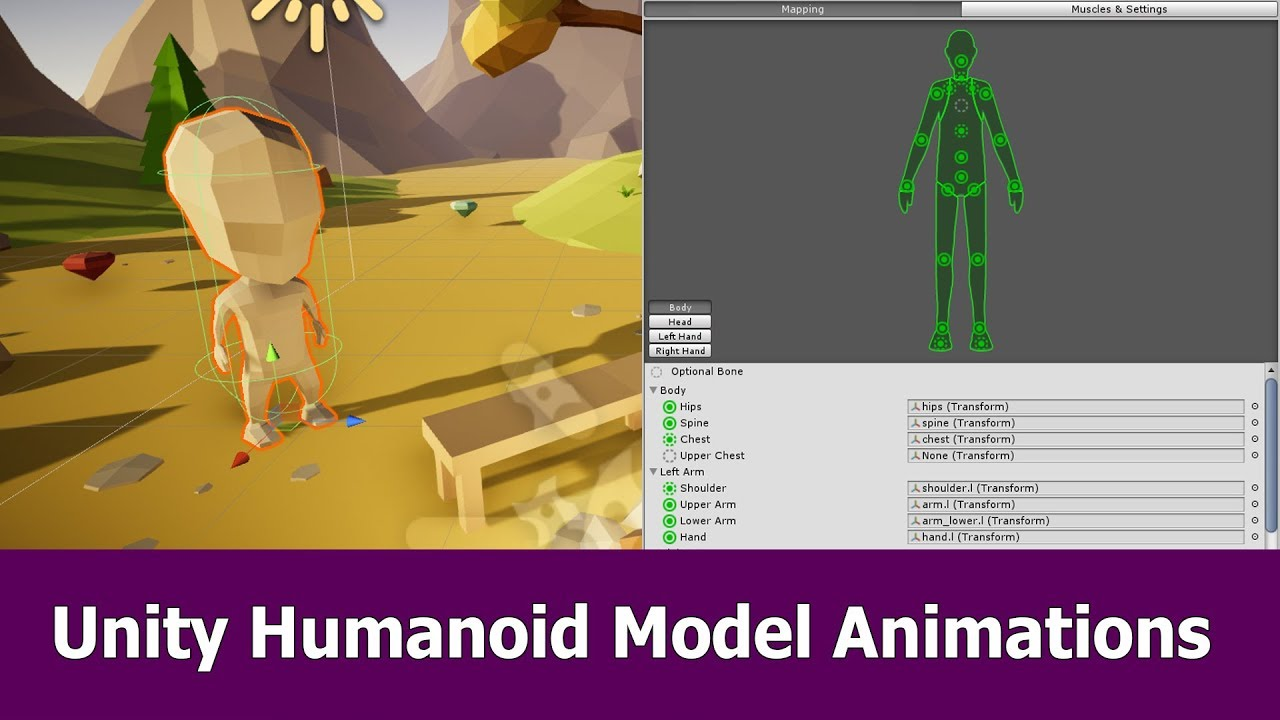 Unity Animations for Humanoid Models