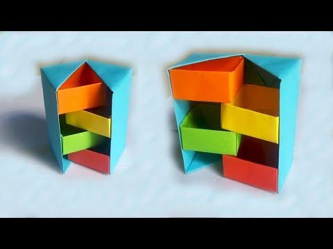 Hướng dẫn làm chiếc hộp giấy bí ẩn Origami   Xếp giấy nghệ thuật   Tư liệu mầm non   Foci