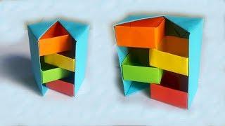 Hướng dẫn làm chiếc hộp giấy bí ẩn Origami | Xếp giấy nghệ thuật | Tư liệu mầm non