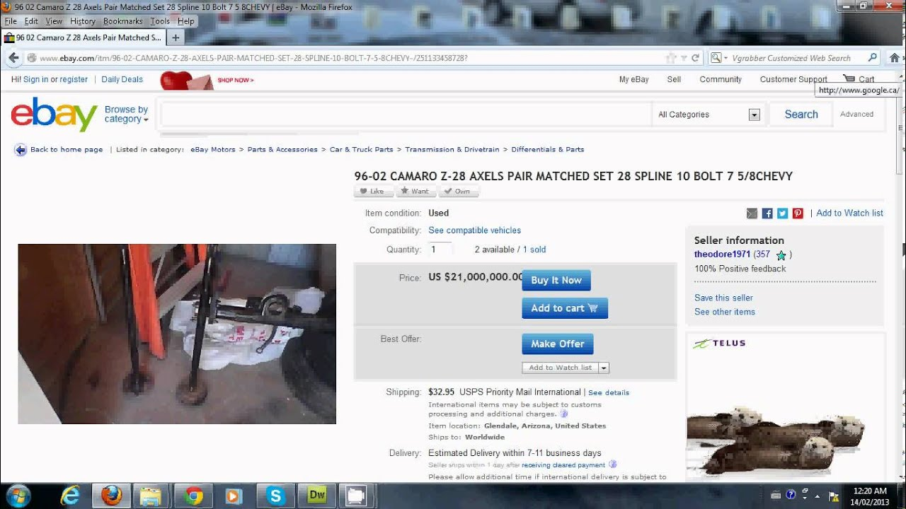 what is the most expensive items being sold on ebay youtube. Black Bedroom Furniture Sets. Home Design Ideas