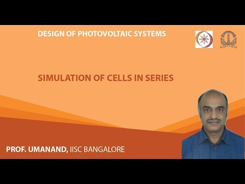 PV16: Simulation of PV cells in series