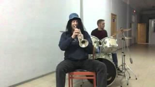 """Импровизация на трубе из серии"""" Джазовые посиделки""""."""
