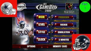 NFL Gameday 2000 Cowboys Vs Seahawks Part 1