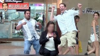 Dancing Behind People at the Mall