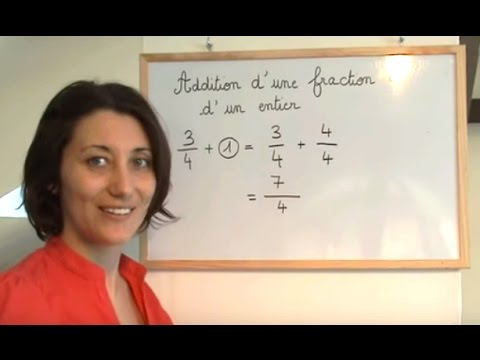 Maths fraction plus entier (addition) Collège
