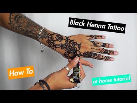 How To Do Henna At Home | Black Henna Tattoo