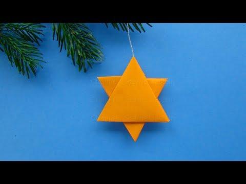 Origami Stern - Sterne für Weihnachten basteln mit Papier - Weihnachtssterne