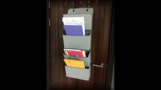 Review on 4 Pocket Closet Storage Organizer Wall Mount Over Door Fabric Hanging Organizer