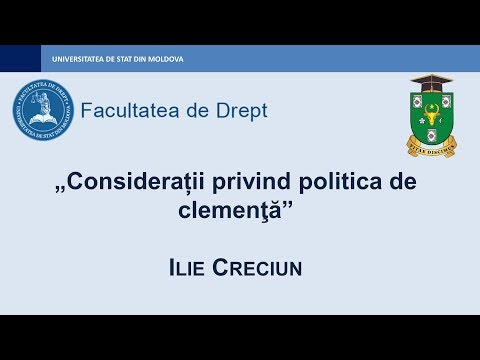 Ilie Creciun — Considerații privind politica de clemenţă