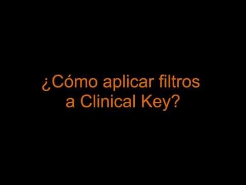 Tutorial ClinicalKey: Cómo aplicar filtros