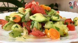 видео Салат из запеченных овощей