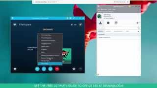 How to Share Your Screen or Program in Skype for Business