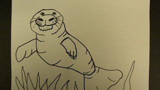 Kids Can Draw: Easy to Draw Manatee