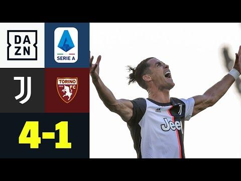 Ronaldos Freistoß-Hammer hält Juve auf Meisterkurs: Juventus - FC Turin 4:1   Serie A   DAZN
