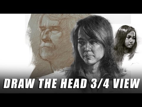 Draw the Head 3/4 View
