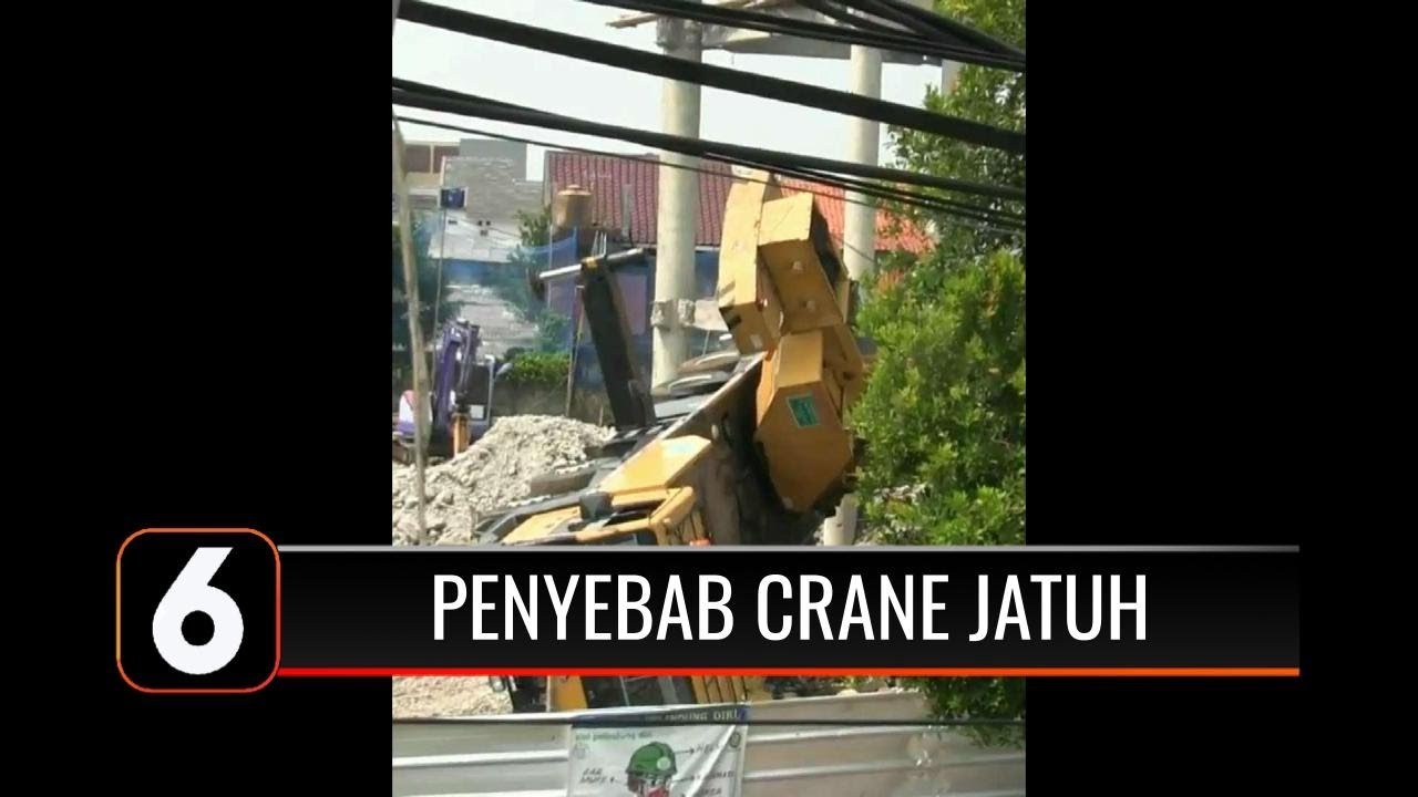 Salah Injak Pedal Jadi Penyebab Jatuhnya Crane di Depok, 2 Rumah Warga Hancur   Liputan 6