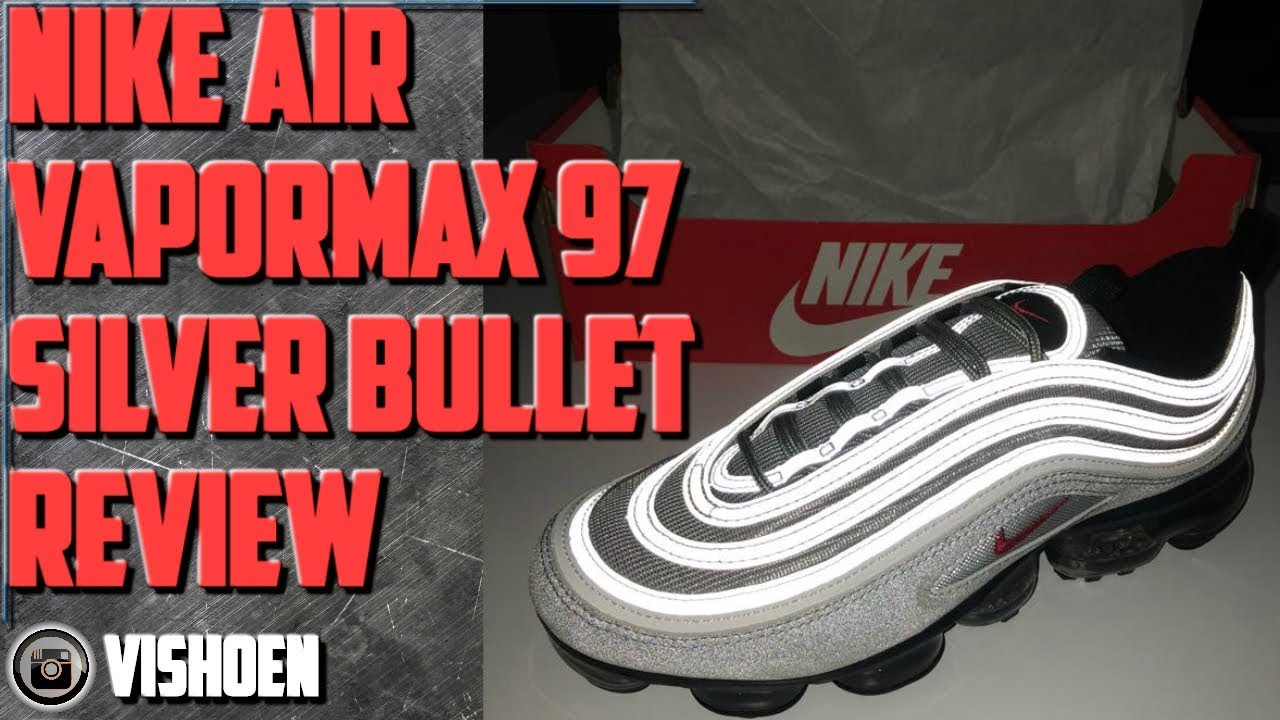 c7d80a19f93fa0 Nike Air Vapormax 97 Silver Bullet review - YouTube
