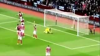 Video Gol Pertandingan Aston Villa vs Stoke City
