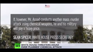 US threatens Assad over 'planned new chemical attack'